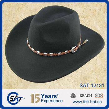 74d857fa304 100% Australian Wool Felt Cowboy Hat