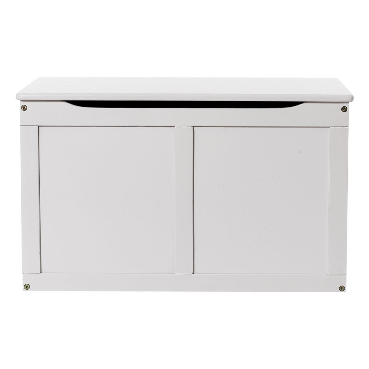 Get Quotations · White Wooden Kids Toy Storage Box Chest Organizer Large  Bin Boys U0026 Girls