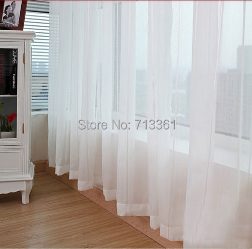 sheer white voile scarf curtain panel sets curtains extra wide long width 3m height. Black Bedroom Furniture Sets. Home Design Ideas