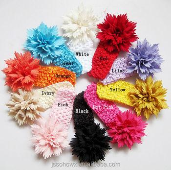 2015 Neuen Stil Top Baby Stirnbandhäkeln Baby Stirnband Blume