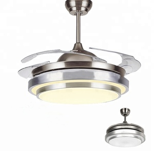 High quality best 42 inch invisible ceiling fans blabe with light brand and remote ceiling fan low watts Cheap prices