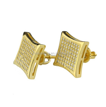 Hip Hop Studs And Boys Diamond Stud Earrings For