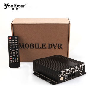 4 Channel Mobile Car DVR Recorder Vehicle Traveling Data Recorder Mobile DVR Kit for Bus Taxi Truck
