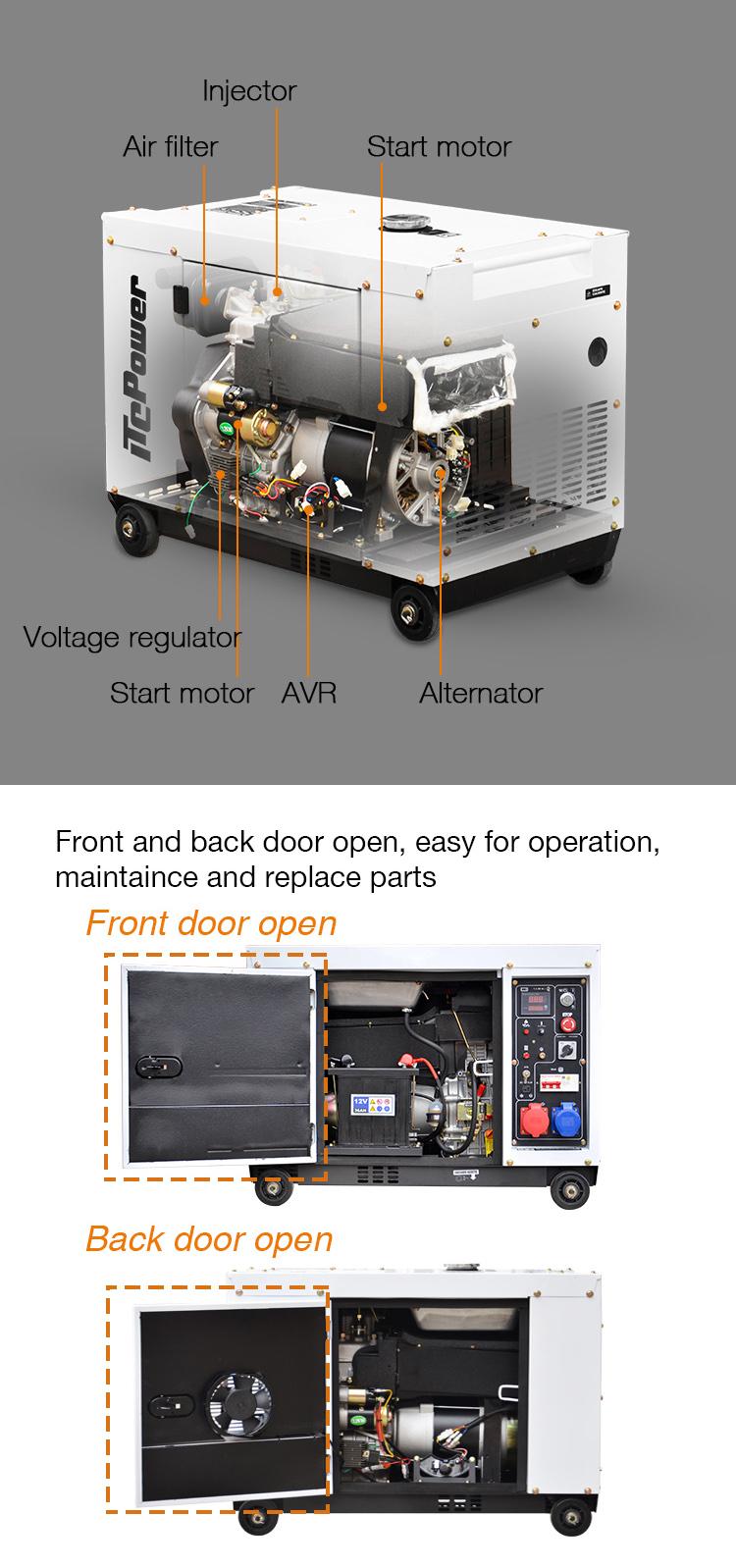 Air cooled 5KW ITC - แบบพกพาเครื่องกำเนิดไฟฟ้าดีเซลเงียบเครื่องกำเนิดไฟฟ้าดีเซล