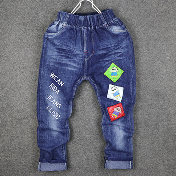China Factory Wholesale New Style Boys Embroidery Designs Jeans For
