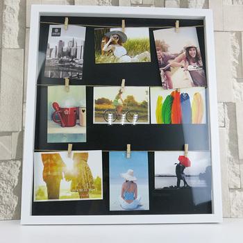 Al Foto Bahan Gambar Bingkai Diy Dinding Logam Tali Dengan 11 Klip