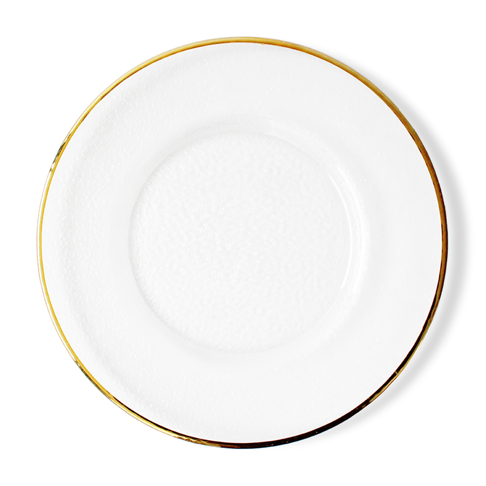 Wholesale 13 inches round gold rim glass wedding dinner charger <strong>plate</strong>