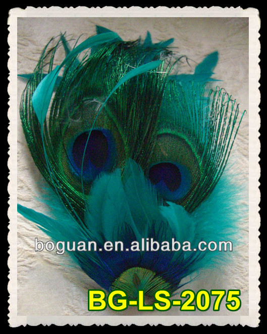 Fascinator Hair Decoration Peacock Feathers