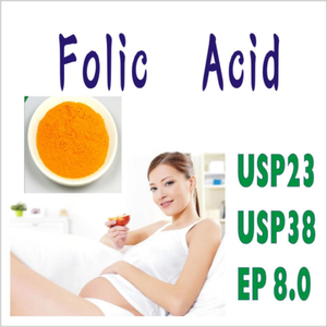 High Quality USP 38 Vitamin B9 Agriculture Folic Acid in Powder