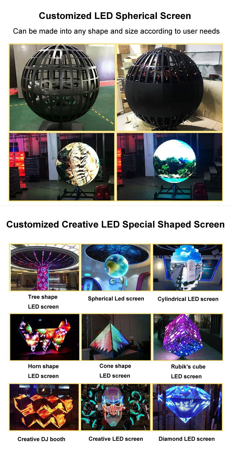 Mode-Design P3 P4 P5 Sphärische Runde Led-anzeige LED Ball Display Volle Farbe LED Preis Display