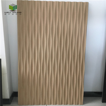Interior Decorative Wall Paneling Embossed Carved MDF 3D Wall Panel