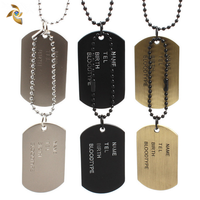 competitive price gold dog tags for men China manufacturer