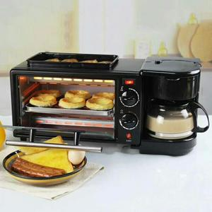3 in 1 breakfast making machine egg frying coffee maker toast oven