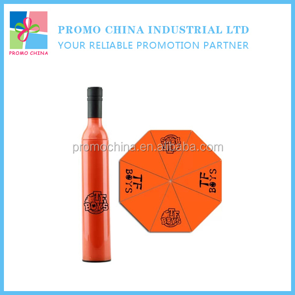 Hot Novelty Promotional Wine Bottle Shape Umbrella With Customized Logo