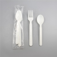Wholesale Disposable 100% Compostable PLA Cutlery Plastic Spoon & Fork