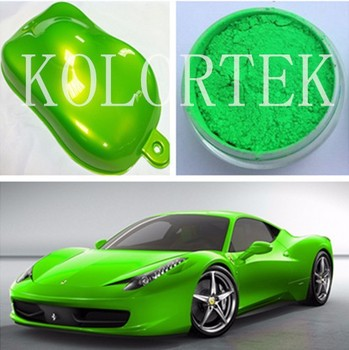Custom Neon Auto Paint Pigment Green Color Powder
