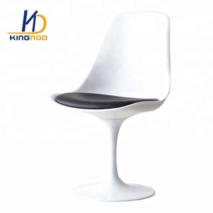 High Quality ABS Italian Design Plastic Seat Aluminum Base Eero Saarinen Tulip Side Chair