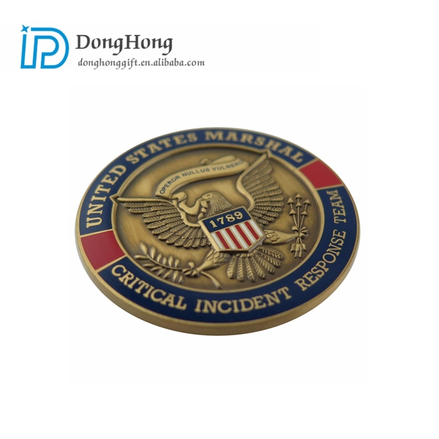 China Suppliers Low MOQ Wholesale Custom Antique Gold Plated Metal Souvenir Coin