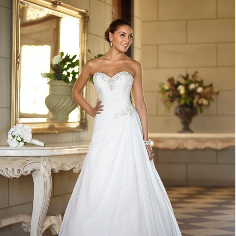 Aliexpress Com Buy Vestido De Noiva 2017 A Line Beach: Aliexpress.com : Buy Sexy White A Line Wedding Dresses