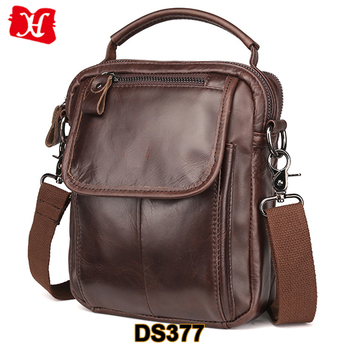 Men s Vintage Leather Satchel Small Messenger Shoulder Crossbody Sling Bag 99f9548aa0143