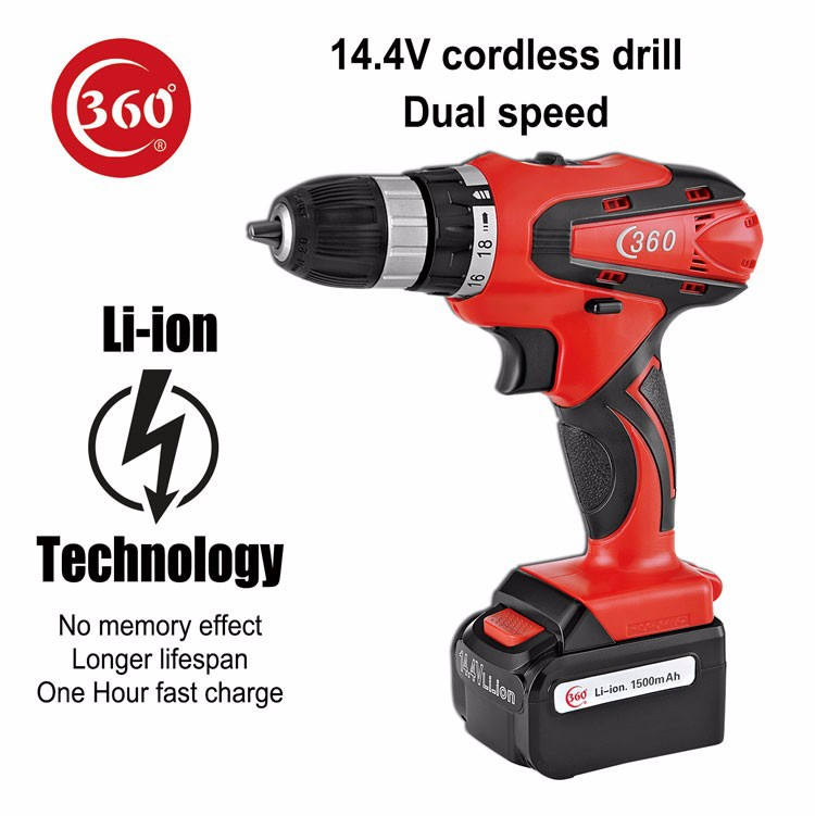 14.4v Li-ion Dual speed cordless <strong>drill</strong>