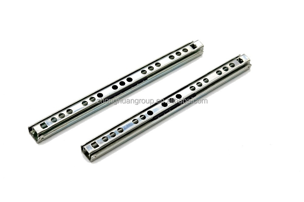 17mm single extension MINI ball bearing drawer slide rail