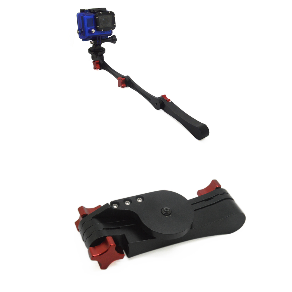New Hot Action Camera CNC Aluminum Alloy Made Folable Pocket Stabilizer Grip