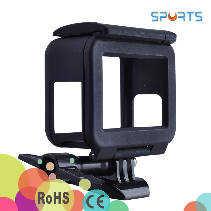 2017 Gopros heros 5 Accessories Plastic Protective Standard Border Frame Case for Go pro he ro 5 black Action Camera