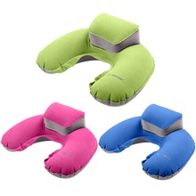 Custom pvc Floating Foldable Inflatable Travel neck pillow travel Neck U Pillow