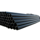 hdpe pipe black plastic 6 inch water pipes high quality
