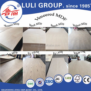 4mm,5mm,9mm,12mm,15mm,18mm red oak,white oak veneer MDF board