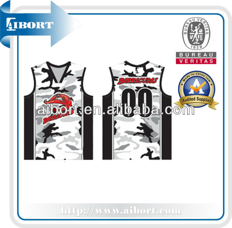 Subbs-397 Black White Camouflage Basketball Jersey