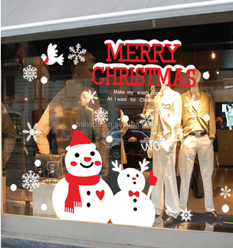 Custom Kerst Decoraties Verwijderbare Raamstickers Gelukkig