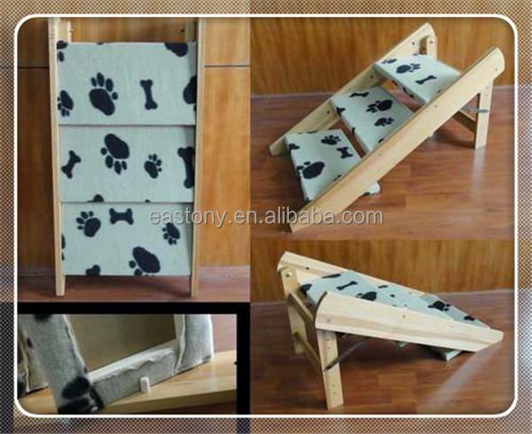 Plegable y retr ctil escalera de madera para perro camas y - Escaleras para perros ...