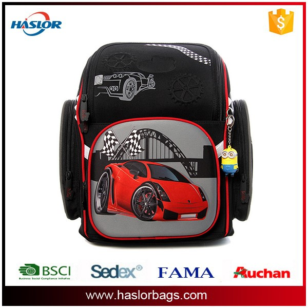 2016 latest 300D/EVA school backpack bags for boys