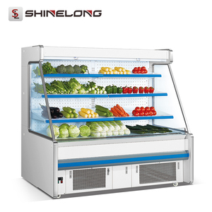 R281 Supermarket 3 Layers Open Showcase Commercial Refrigerator For Fruits And Vegetables