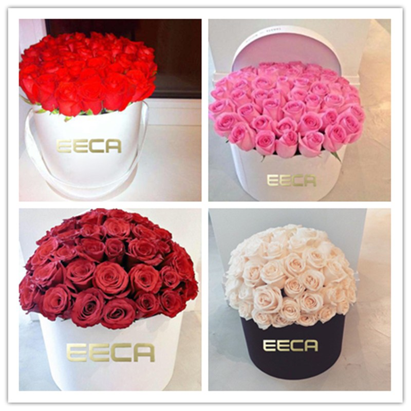 2016 White Flower Hat Box Round Gift Box For Flowers Packaging In ...