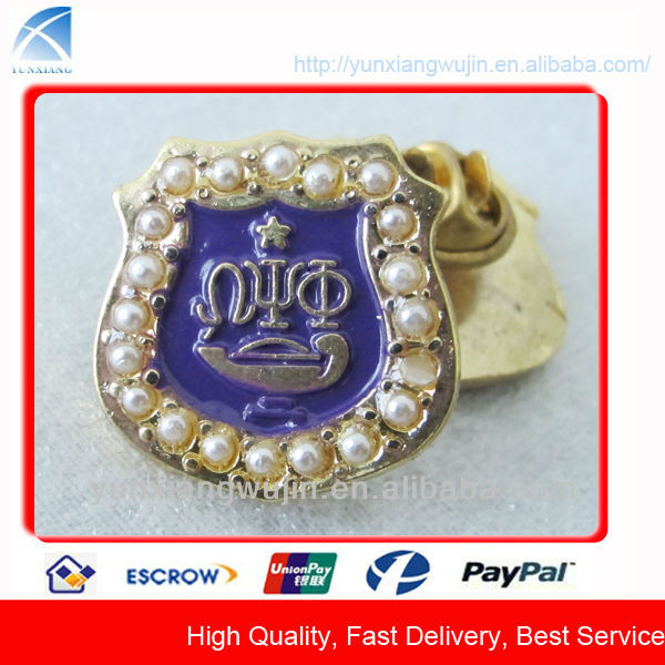 CD5544 Custom Metal Logo Pearl Pin Badges for Promotion