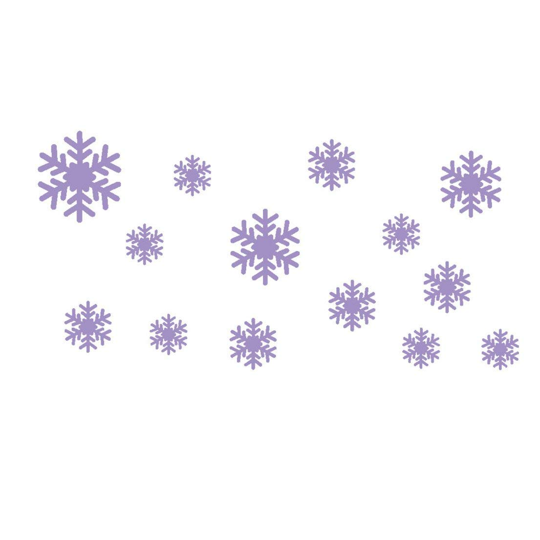 Ussore Wall Sticker Frozen Snow Flakes Vinyl Art Wall Quote Decal Sticker Removable For Kids Home Living Room House Bedroom Bathroom Kitchen Office Home Decoration (purple)