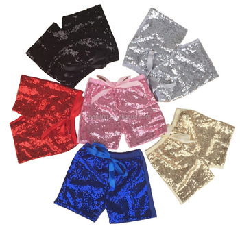 Fashion Children sequin Short Pants rainbow wholesale Baby Girls shorts