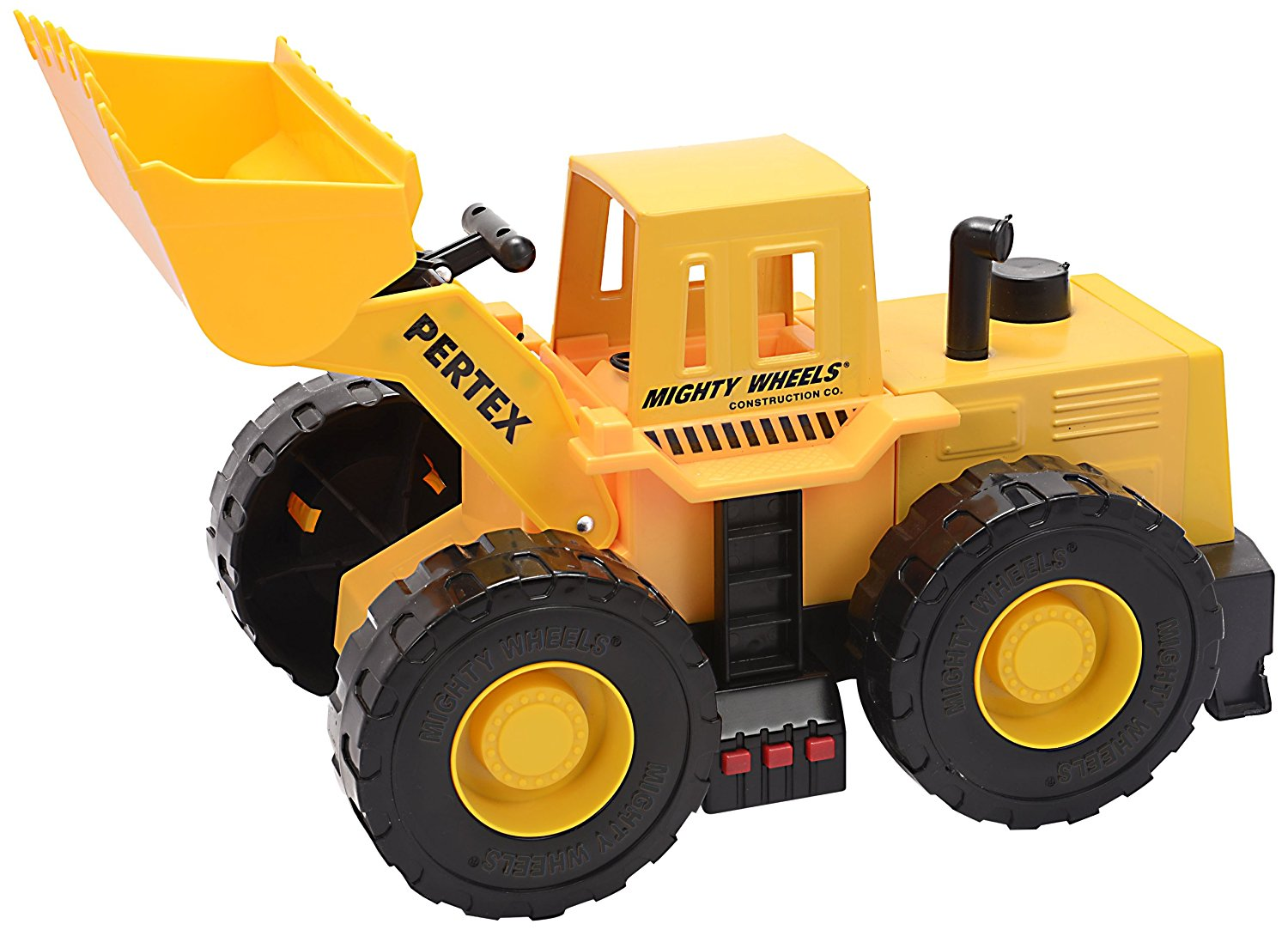 """Mighty Wheels 17.5"""" Motorized Sound and Light Rev Up Front Loader"""