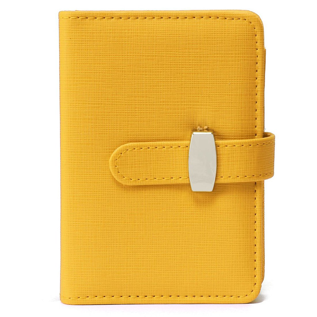 TOOGOO(R) Modern Design A6 Personal Organiser Planner PU Leather Cover Diary Notebook School Office Stationery£¨Yellow£