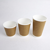 disposable export paper coffee carton cup with handle/pla paper cup