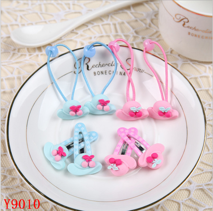 Plastic lovely hat with flower design women hair accessories hairpin for girls