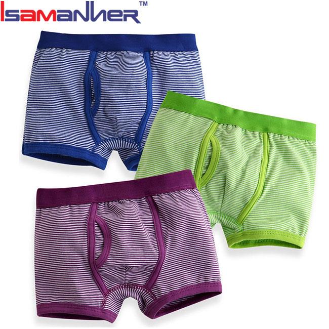 3 ชิ้นเด็กกางเกงในความร้อนตั้งผ้าฝ้าย 100% นักมวยเด็กเด็กกางเกง