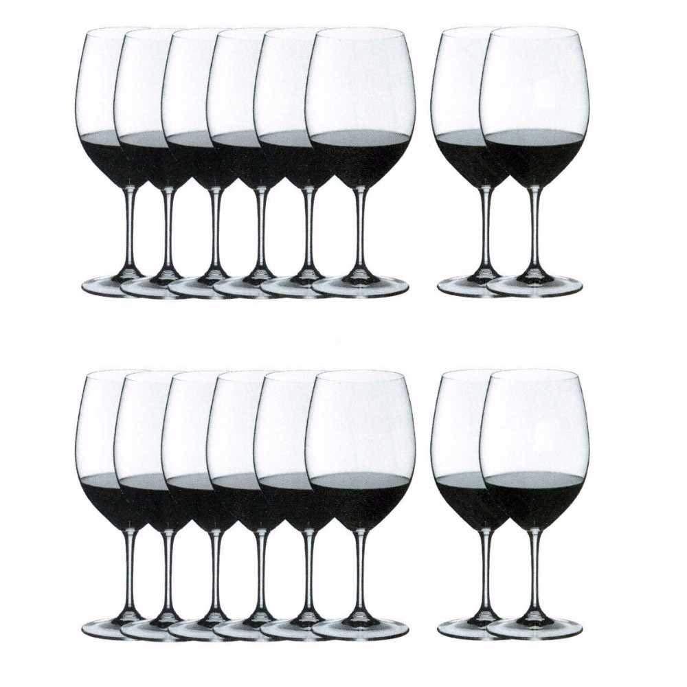 Riedel Vinum Bordeaux Wine Glasses, Set of 16