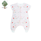 Muslin tree babies animal custom cotton toddler clothing baby romper
