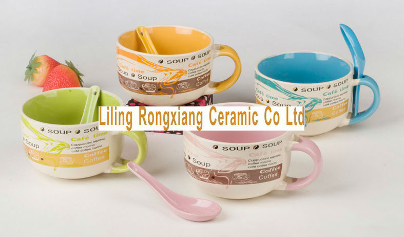 Jumbo Ceramic Soup Mugs With Handle Cheap Mugs - Buy Ceramic Soup ...