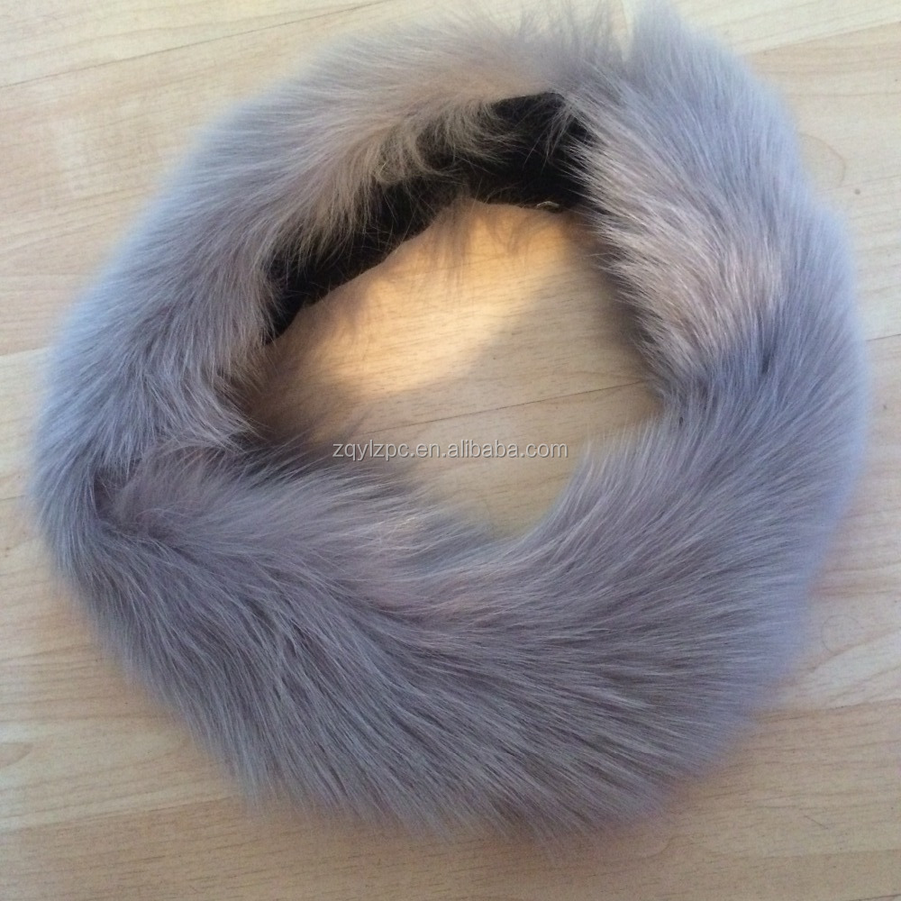 Fashion Design Fox Fur Elastic <strong>Headband</strong> For Women