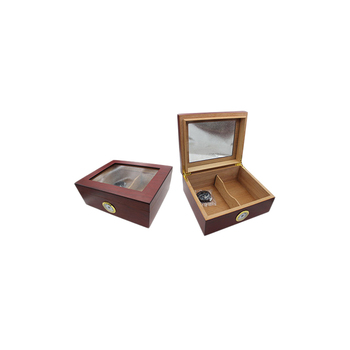 Clear Glass Window Lacquer Solid Wood Cigar Box,Sampler Cigar Box,Rosewood Cigar Box